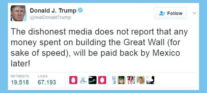 Tweet by Donald Trump