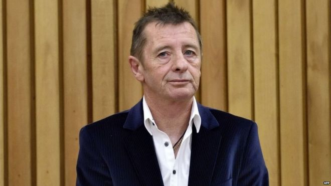 Phil Rudd in Tauranga District Court, New Zealand (9 July 2015)