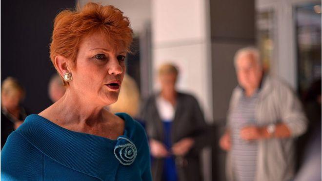 Australian senator-elect Pauline Hanson