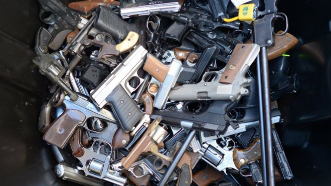 BBC related image of lots of guns