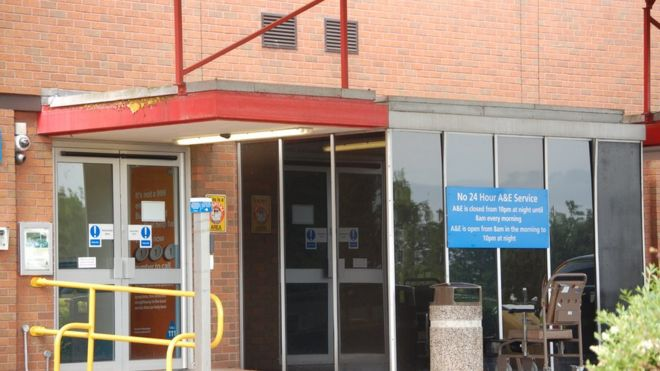 The accident and emergency service for children at Stafford County Hospital closed at 10:00 BST on Thursday