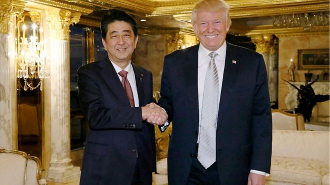 Ông Trump và ông Abe