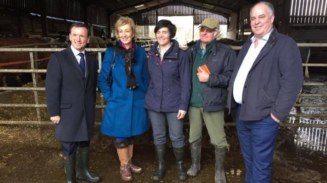 Alun Cairns, Andrea Leadsom, Abi and Robert Reader, and Andrew RT Davies