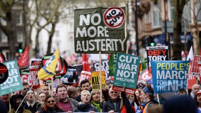 Protest against UK Government
