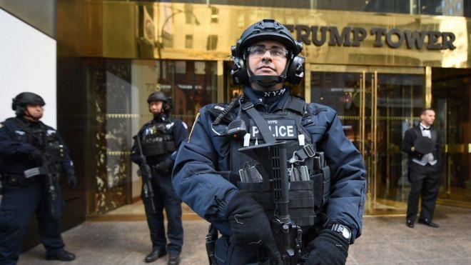 El enorme (y molesto) despliegue de seguridad para proteger al presidente electo Donald Trump en Nueva York