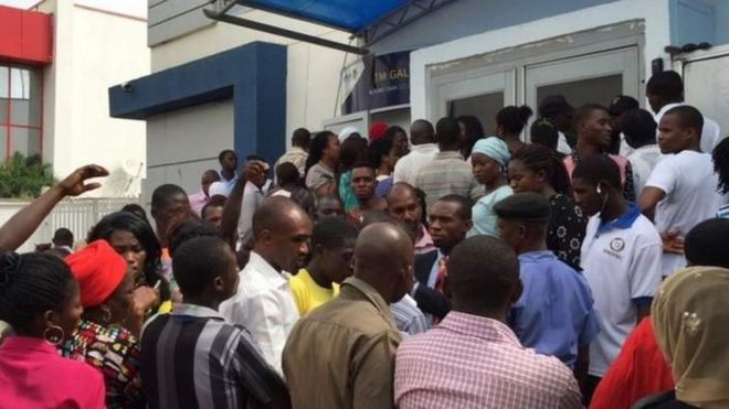 Nigeria bank customers