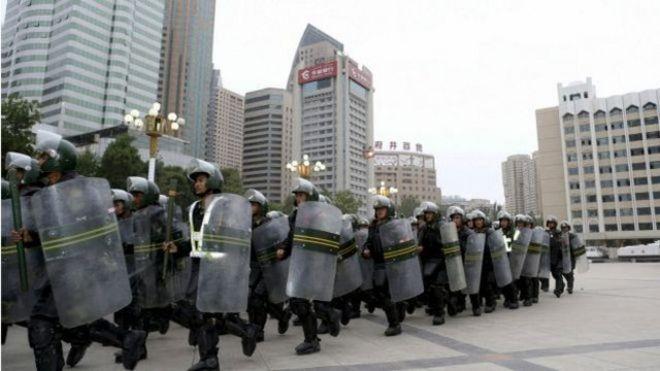 中国警方不断在新疆加强戒备。(资料图片)