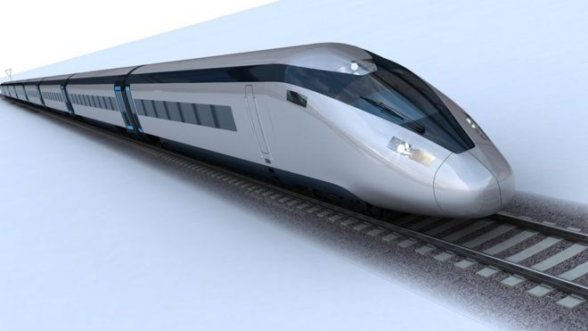 Artist impression of an HS2 train
