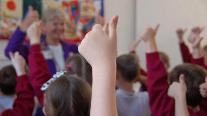 Child hand up