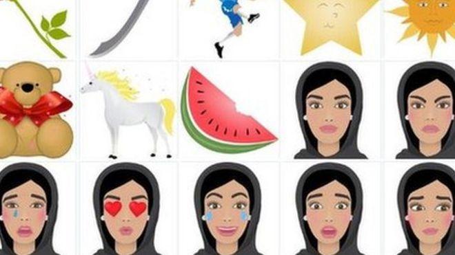 Un ejemplo de los emoticones de HALLA WALLA