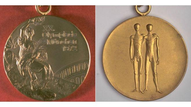 Deux côtés de la médaille olympique de 1972
