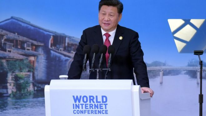 President Xi Jinping at the World Internet conference