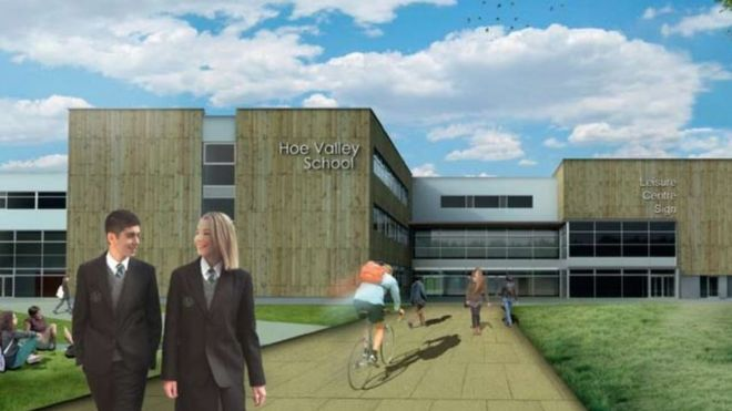 Artist's impression of Hoe Valley School