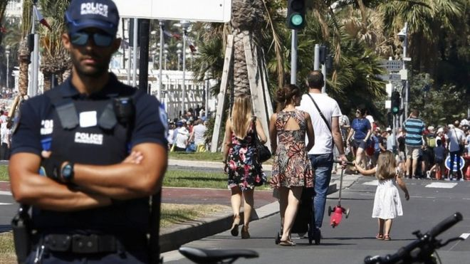 Police officer in Nice