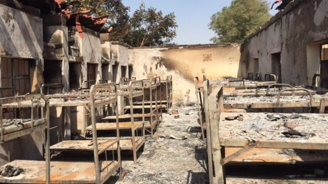 dorm beds destroyed by fire