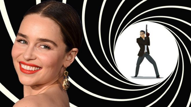 Emilia Clarke on James Bond swirl