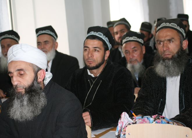 File photo: Bearded Tajik men