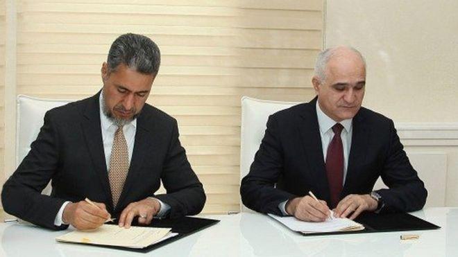 İqtisadiyyat naziri Şahin Mustafayev və Sayed Aga