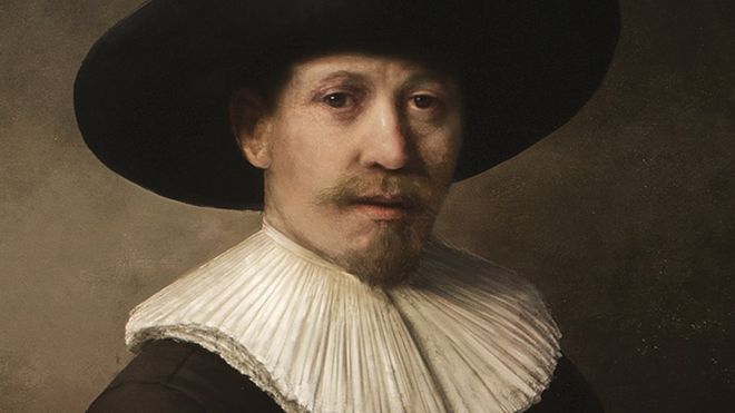 A painting of a man in the style of Rembrandt