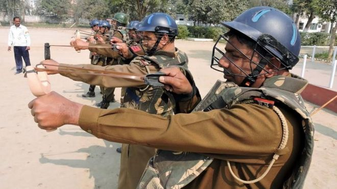 _88172602_4fe995f2-ce46-4e78-8f41-7f63ea287def - Indian Police to Use Slingshots and Chilli Balls as Crowd Control Weapons - Weird and Extreme