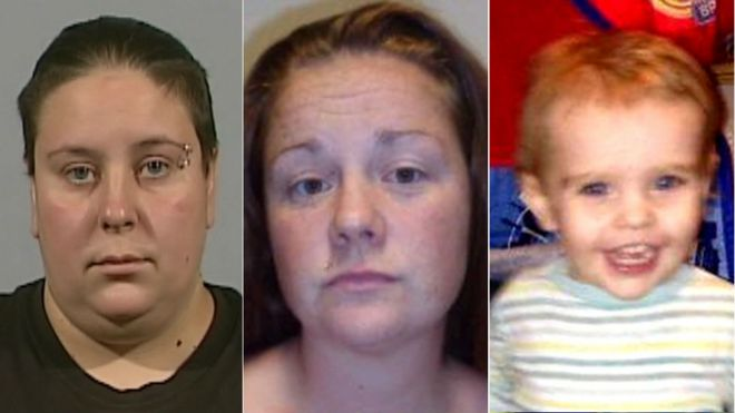 Nyomi (left) and Rachel Fee murdered two-year-old Liam