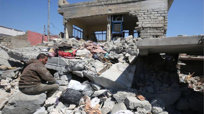 آمریکا 'ممکن است مسئول بمباران غیرنظامیان موصل باشد'