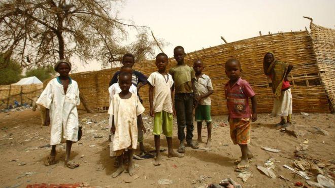 Children pictured in an IDP camp in Dafur in April 2016
