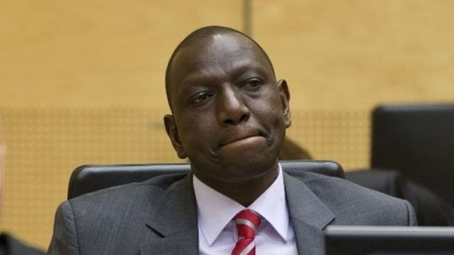 Kenya's Deputy President William Ruto at the ICC (September 2013)