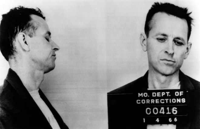 Stock Photo - James Earl Ray (1928-1998), future assassin of Dr. Martin Luther King Jr., arrested for armed robbery and auto theft January 4