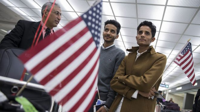 Yemeni nationals at Washington Dulles airport
