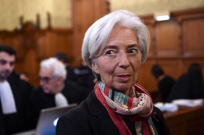 IMF chief Lagarde has left France before trial verdict _93031603_036862447-1