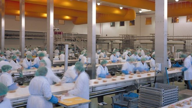 Workers in a Greencorp sandwich factory