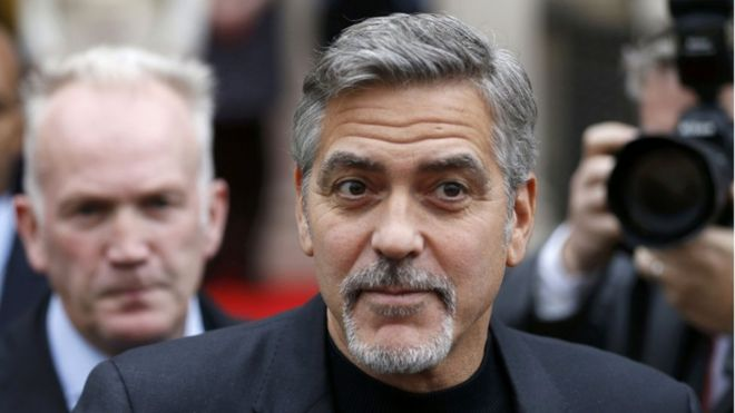 George Clooney is heading to Edinburgh to back sandwich charity for the homeless Social Bite  _86651623_georgereuters