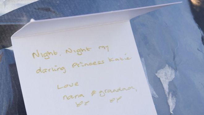 Handwritten tribute on a card