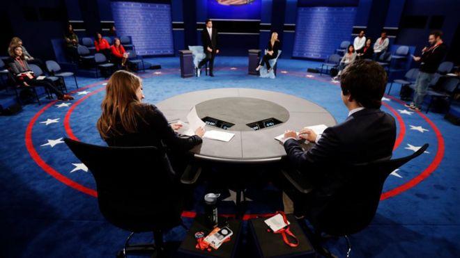 Escenario del segundo debate presidencial.