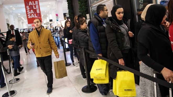 shoppers on Boxing Day