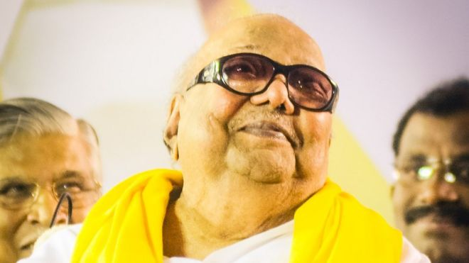 Karunanidhi at an election really