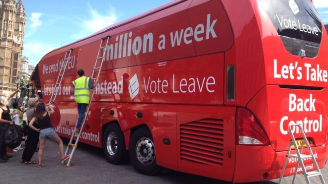 "Vote Leave bus promoting NHS budget ""lies"" hijacked by Greenpeace"
