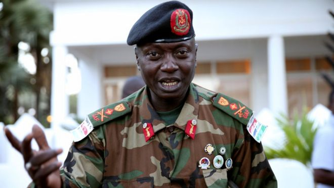 Image result for Gambia army chief badjie