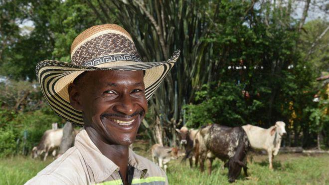 Productor ganadero en el valle de Patía