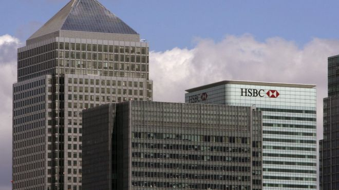 HSBC office in Canary Wharf