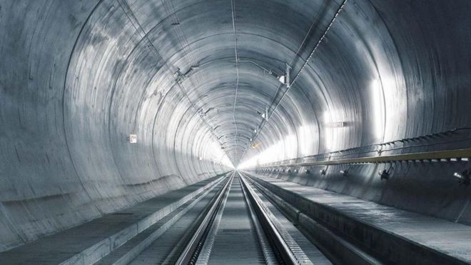 Longest rail tunnel