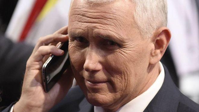 Estados Unidos: el vicepresidente Mike Pence, feroz crítico del servidor privado de correo de Hillary Clinton, usó un email comercial cuando era gobernador