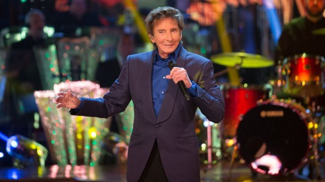 Barry Manilow performing on Strictly Come Dnacing.
