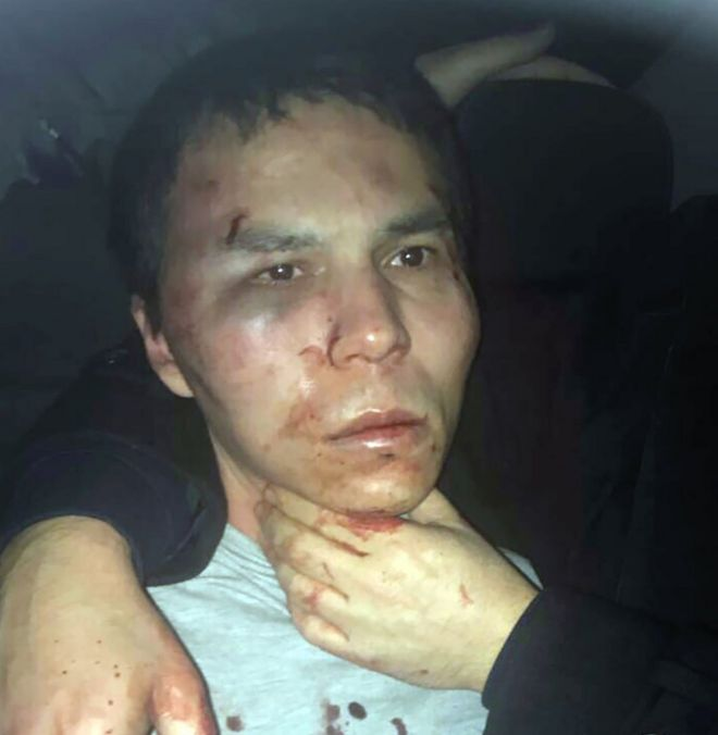 This handout picture released by the Turkish police and taken from Dogan News Agency on January 16, 2017 shows the main suspect in the Reina nightclub rampage captured by Turkish police