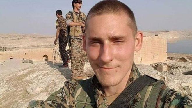 Ryan Locks alikuwa amejitolea kupigana na wapiganaji wa Kikurdi YPG.
