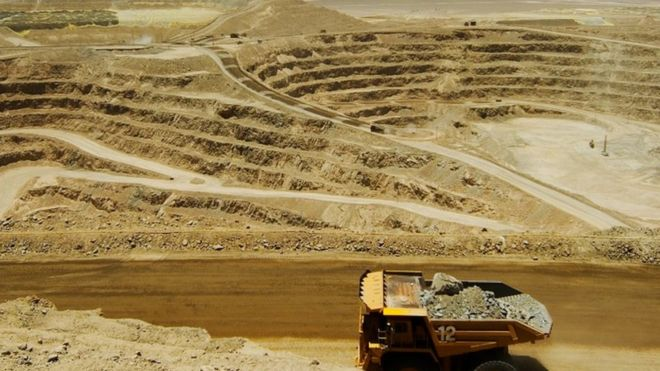 Glencore's copper mines include Lomas Bayas in Chile