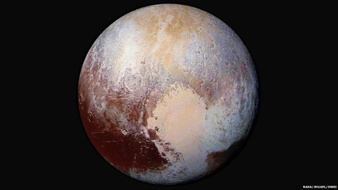 Pluto in false colour