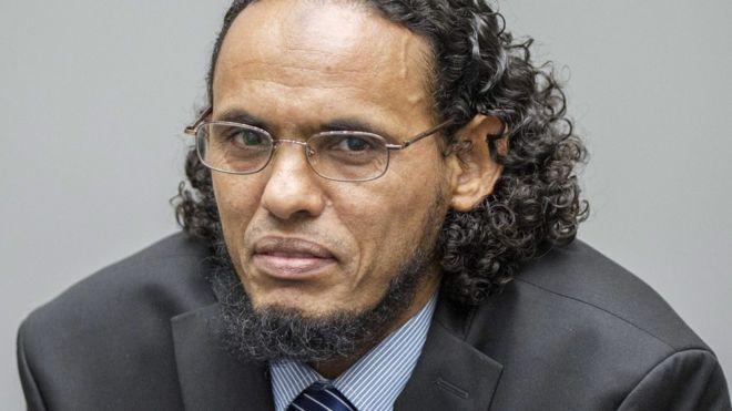 Ahmad al-Faqi al-Mahdi during his trial at the ICC