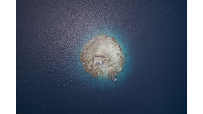 Grana de perlas, atolón Manihiki.